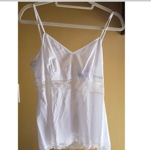 "Express ""Design Studio"" white cotton cami"